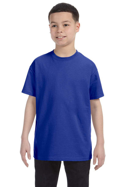 Gildan G500B Youth Short Sleeve Crewneck T-Shirt Cobalt Blue Front
