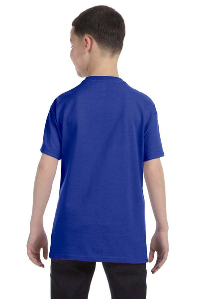 Gildan G500B Youth Short Sleeve Crewneck T-Shirt Cobalt Blue Back