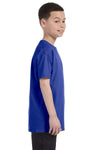 Gildan G500B Youth Short Sleeve Crewneck T-Shirt Cobalt Blue Side
