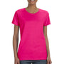 Gildan Womens Short Sleeve Crewneck T-Shirt - Heliconia Pink