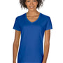 Gildan Womens Short Sleeve V-Neck T-Shirt - Royal Blue
