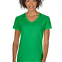 Gildan Womens Short Sleeve V-Neck T-Shirt - Irish Green