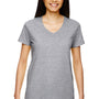 Gildan Womens Short Sleeve V-Neck T-Shirt - Sport Grey