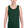 Gildan Mens Tank Top - Forest Green