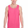 Gildan Mens Tank Top - Safety Pink
