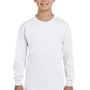 Gildan Youth Long Sleeve Crewneck T-Shirt - White