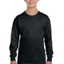 Gildan Youth Long Sleeve Crewneck T-Shirt - Black