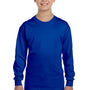Gildan Youth Long Sleeve Crewneck T-Shirt - Royal Blue
