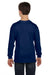 Gildan G540B Youth Long Sleeve Crewneck T-Shirt Navy Blue Back