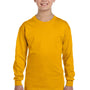 Gildan Youth Long Sleeve Crewneck T-Shirt - Gold