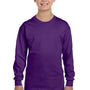 Gildan Youth Long Sleeve Crewneck T-Shirt - Purple