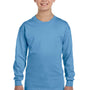 Gildan Youth Long Sleeve Crewneck T-Shirt - Carolina Blue