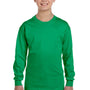 Gildan Youth Long Sleeve Crewneck T-Shirt - Irish Green