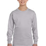 Gildan Youth Long Sleeve Crewneck T-Shirt - Sport Grey
