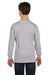 Gildan G540B Youth Long Sleeve Crewneck T-Shirt Sport Grey Back