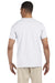Gildan G640 Mens Softstyle Short Sleeve Crewneck T-Shirt White Back