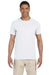 Gildan G640 Mens Softstyle Short Sleeve Crewneck T-Shirt White Front