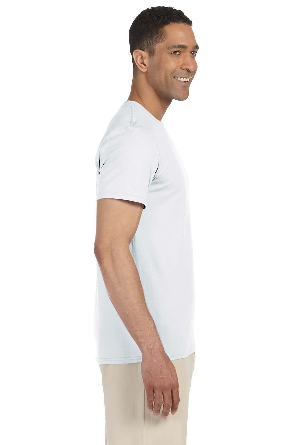 Gildan G640 Mens Softstyle Short Sleeve Crewneck T-Shirt White Side