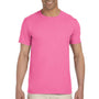Gildan Mens Softstyle Short Sleeve Crewneck T-Shirt - Azalea Pink