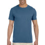 Gildan Mens Softstyle Short Sleeve Crewneck T-Shirt - Indigo Blue