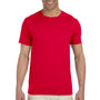 Gildan Mens Softstyle Short Sleeve Crewneck T-Shirt - Cherry Red