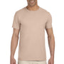 Gildan Mens Softstyle Short Sleeve Crewneck T-Shirt - Sand