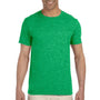 Gildan Mens Softstyle Short Sleeve Crewneck T-Shirt - Heather Irish Green