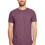 Gildan Mens Softstyle Short Sleeve Crewneck T-Shirt - Heather Maroon