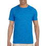 Gildan Mens Softstyle Short Sleeve Crewneck T-Shirt - Heather Royal Blue