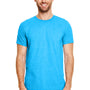 Gildan Mens Softstyle Short Sleeve Crewneck T-Shirt - Heather Sapphire Blue