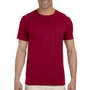 Gildan Mens Softstyle Short Sleeve Crewneck T-Shirt - Cardinal Red