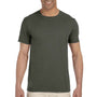Gildan Mens Softstyle Short Sleeve Crewneck T-Shirt - Military Green