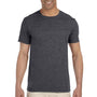 Gildan Mens Softstyle Short Sleeve Crewneck T-Shirt - Heather Dark Grey