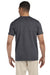 Gildan G640 Mens Softstyle Short Sleeve Crewneck T-Shirt Heather Dark Grey Back