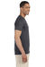 Gildan G640 Mens Softstyle Short Sleeve Crewneck T-Shirt Heather Dark Grey Side