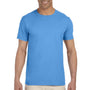 Gildan Mens Softstyle Short Sleeve Crewneck T-Shirt - Iris Blue