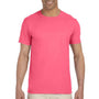 Gildan Mens Softstyle Short Sleeve Crewneck T-Shirt - Coral Silk