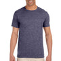 Gildan Mens Softstyle Short Sleeve Crewneck T-Shirt - Heather Navy Blue