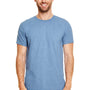 Gildan Mens Softstyle Short Sleeve Crewneck T-Shirt - Heather Indigo Blue