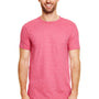 Gildan Mens Softstyle Short Sleeve Crewneck T-Shirt - Heather Cardinal Red