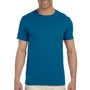 Gildan Mens Softstyle Short Sleeve Crewneck T-Shirt - Antique Sapphire Blue