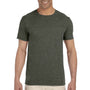 Gildan Mens Softstyle Short Sleeve Crewneck T-Shirt - Heather Military Green
