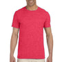 Gildan Mens Softstyle Short Sleeve Crewneck T-Shirt - Heather Red