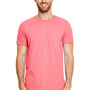 Gildan Mens Softstyle Short Sleeve Crewneck T-Shirt - Heather Coral Silk