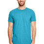 Gildan Mens Softstyle Short Sleeve Crewneck T-Shirt - Heather Galapagos Blue