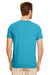 Gildan G640 Mens Softstyle Short Sleeve Crewneck T-Shirt Heather Galapagos Blue Back