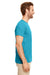 Gildan G640 Mens Softstyle Short Sleeve Crewneck T-Shirt Heather Galapagos Blue Side