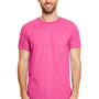 Gildan Mens Softstyle Short Sleeve Crewneck T-Shirt - Heather Heliconia Pink