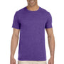Gildan Mens Softstyle Short Sleeve Crewneck T-Shirt - Heather Purple