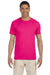 Gildan G640 Mens Softstyle Short Sleeve Crewneck T-Shirt Antique Heliconia Pink Front